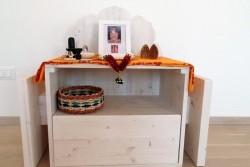 Il mobile-scultura preparato da Silvia...